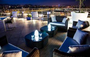 rooftop terrace Eurostars Grand Marina Hotel Barcelona