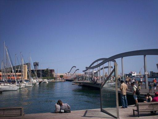 Old Harbor in Barcelona