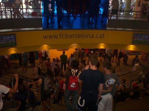 fan shop in Camp Nou